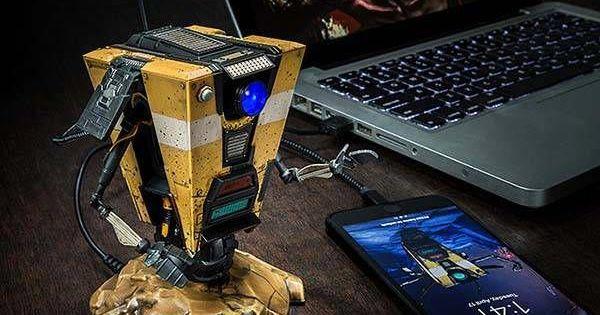 Borderlands Claptrap Talking Usb Hub Usb Hub Usb Gadgets Usb