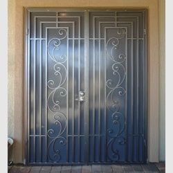 Pin By Ahmed On Kapilar Wrought Iron Security Doors Security Screen Door Iron Security Doors