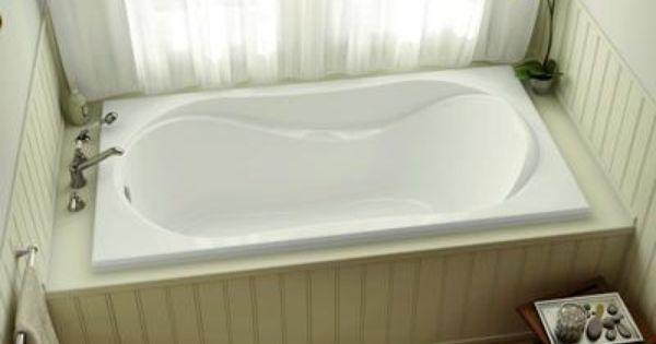 Maax Bath White Velvet 60 Inch Drop In Soaker Tub