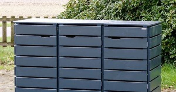 3er m lltonnenbox holz anthrazit grau reihenhausgarten pinterest m lltonnenbox holz. Black Bedroom Furniture Sets. Home Design Ideas