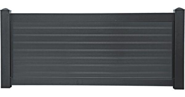 cl ture contemporaine naterial en aluminium haut 80 x larg 150 cm portail cloture. Black Bedroom Furniture Sets. Home Design Ideas