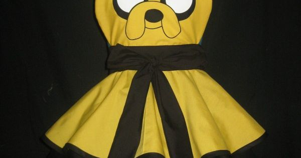 Jake the Dog Adventure Time Inspired Cosplay Apron by darlingarmy