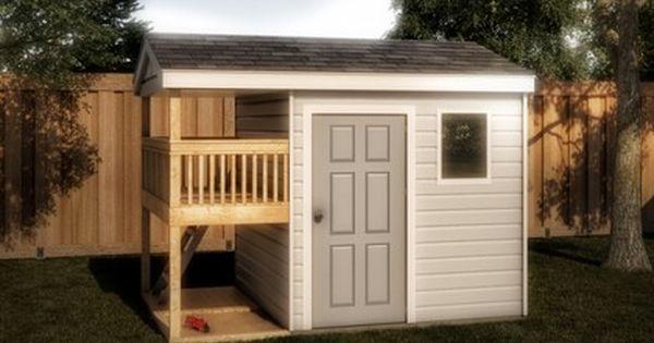 Storage Playhouse Shed 12x8 Plan Backyard Ideas