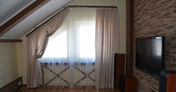 Odd Shaped Window In Living Room Curtains Pinterest