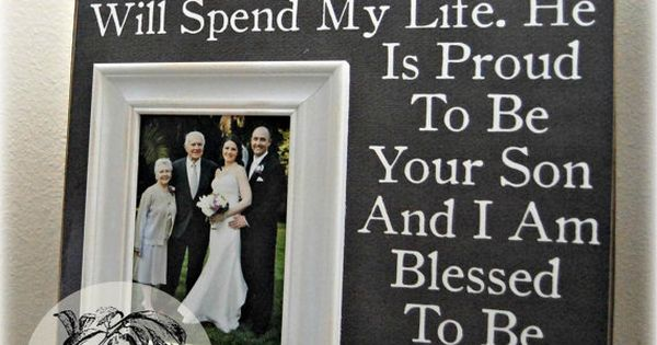 of the Groom, Father of the Groom, Parents Thank You Gift, Wedding ...