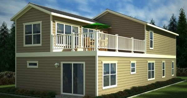 Two story mobile homes beach house model two story home for Two story model homes