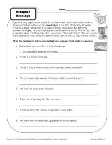 16+ What is a metaphor math worksheet Free Download