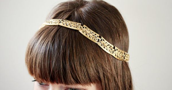 A Grecian style headpiece. perfect for a springtime wedding!