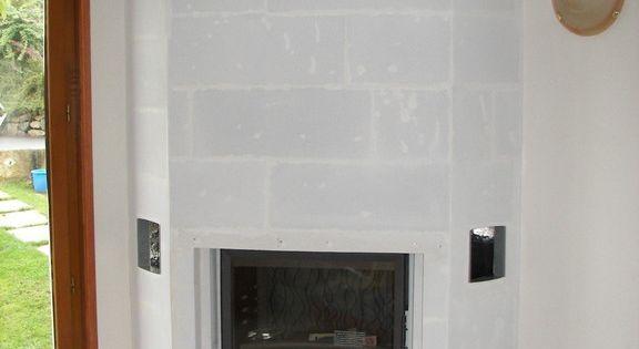 habillage de la hotte chemin e foyer ferm d coration int rieure pinterest hotte. Black Bedroom Furniture Sets. Home Design Ideas