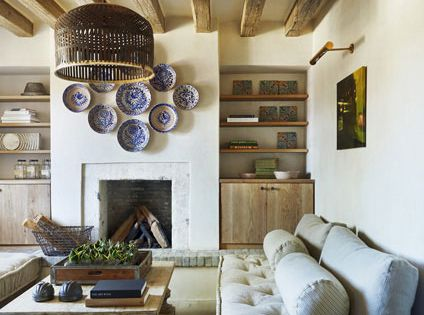 Eclectic French Farmhouse Style In Sonoran Desert, Arizona. Fabulous living room with