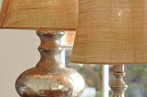 DIY - Pottery Barn's Mercury Glass Lamps (old lamp with Krylon's Looking