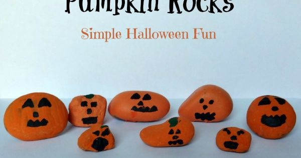 Emma's Diary: Easy Crafts For Kids - Pumpkin rocks
