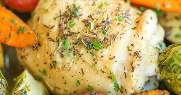 One Pan Roasted Chicken with Fall Vegetables | Recipe ...