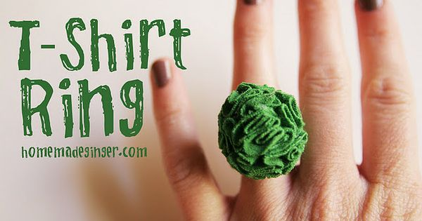 Tshirt ring... Going to make a couple of these for Christmas gifts