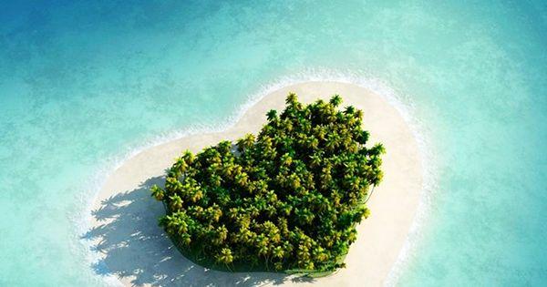 Heart Shape Island - Tavarua Island, Fiji, Oceania. travel travelinsurance iloveinsurance See