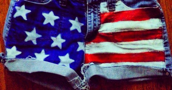 DIY American flag shorts DIY USA