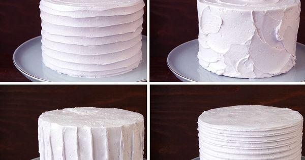 Buttercream Textures Fondant Ideas Frosting Icing
