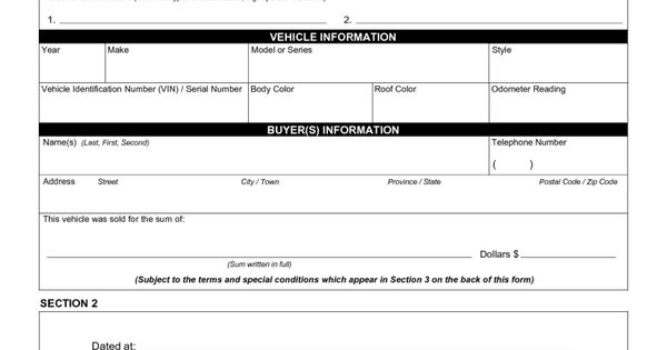 how to write a bill of sale for a trailer