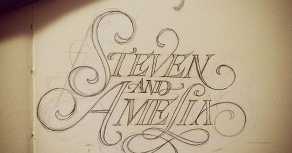 Amazing hand lettering by Matthew Tapia fonts design typography