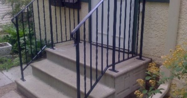 Action Ornamental Railings Welding Fabrication And Design   Handrails For Concrete Steps   Deck Stair   Ada   Wood   7 Hand   Concrete Entrance