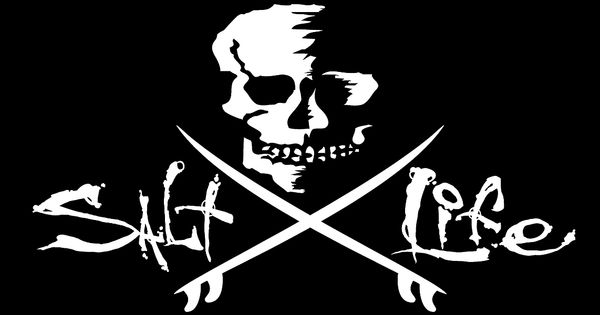 Salt Life Skull Amp Fishing Poles Decal Livin The Salt