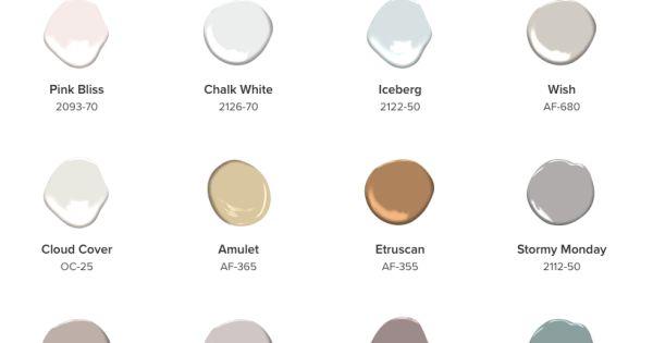 Benjamin Moore 2017 Color Palette 12 Lighter Hues 2018