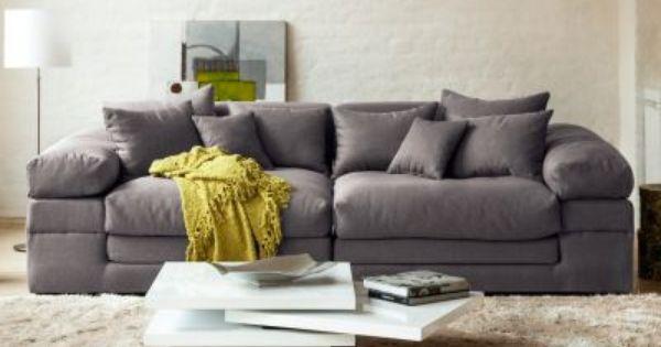 Sofa Im Xxl Format Im Puristischen Loungestil Bequemes Sofa