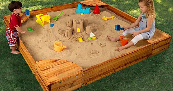love this sandbox whether they like to build sandcastles
