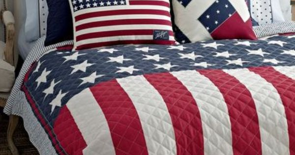 Tommy Hilfiger Americana Full Queen Quilt American