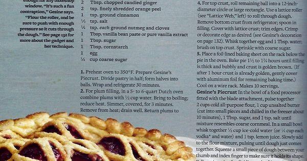 Spiced Plum Pie | Desserts | Pinterest | Pies