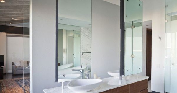 Meuble salle de bain bois vasque avec des miroirs for Miroirs rectangulaires bois