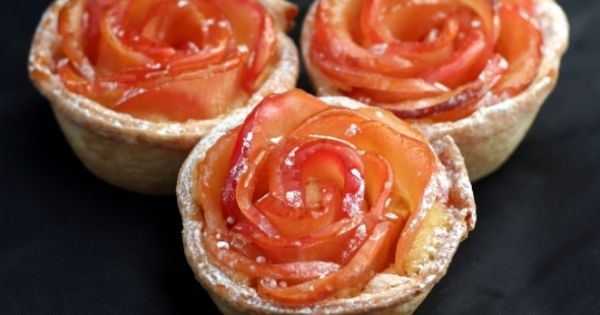 Mini apple rose tarts recipe from Time To Cook.