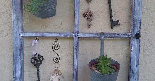Altes fenster fenster altes pinterest selber machen for Gartendeko altes fenster
