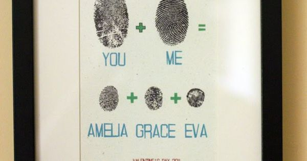You + me = fingerprint art. I'm thinking paw prints instead of