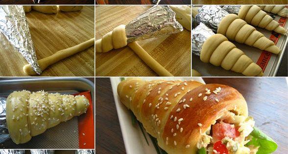 comment faire de savoureux c nes de pain farcis avec de la garniture vol au vent forme sapin. Black Bedroom Furniture Sets. Home Design Ideas