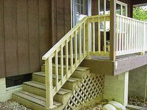 How To Build A Basic 2X4 Handrail For A Deck Or Balcony Building | Diy Handrails For Outdoor Stairs | Wood | Front Porch Railing Ideas | Porch | Stair Stringers | Pipe