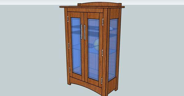 Craftsman curio cabinet 3d warehouse furniture plans for Craftsman cabinet plans