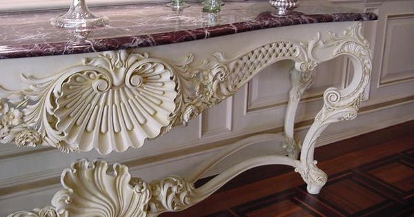 French Baroque Table By Master Wood Carver Dimitrios