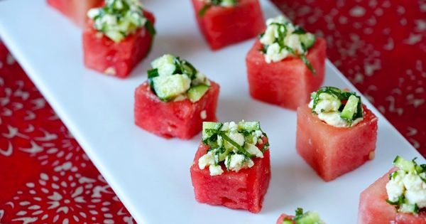 watermelon feta cups food summer party wedding