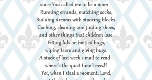 A Mother's Prayer ... Happy Mother's Day to this precious and special