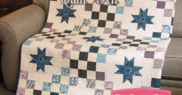 Jewel Tone Castle Courtyard Quilt Kit Featuring Downton