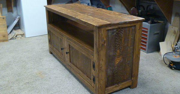rustic palette meuble tv grillage poule portes buffet r cup r bois shabby chic stand de. Black Bedroom Furniture Sets. Home Design Ideas