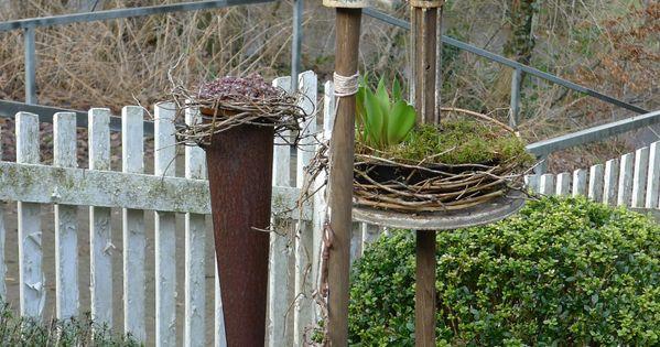 Gartenstecker aus Schrott  Gartenstecker  Pinterest ...