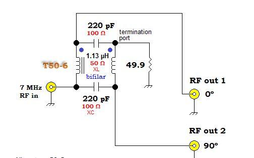 Qrp Homebuilder Qrphb 90 Degree Phase Shift Af Uhf 90