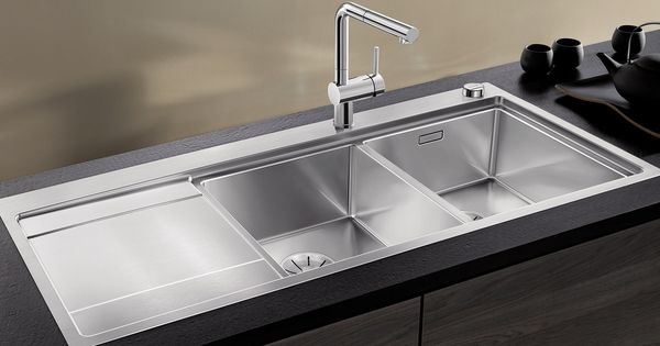2 Bowl Built In Stainless Steel Sink With Drainer Blanco Divon Ii 8 S If By Blanco In 2020 Best Kitchen Sinks Kitchen Sink Design Sinks Kitchen Stainless