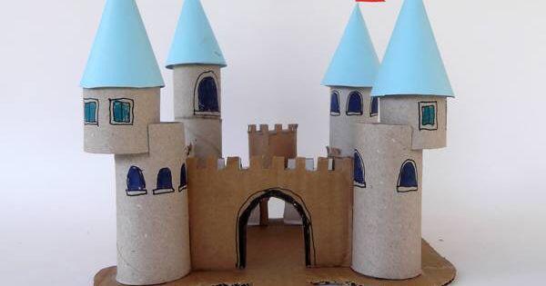 hrad - ruličky z toaletního papíru  Rulička toaletního papíru  Pinterest ...