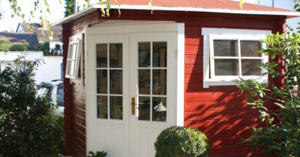 klein aber fein das schwedenrote f nfeck gartenhaus in. Black Bedroom Furniture Sets. Home Design Ideas