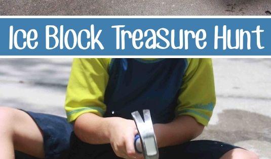 Ice block treasure hunt -- 32 of the BEST DIY backyard games!