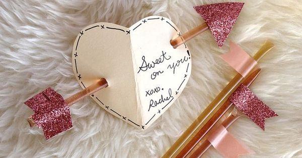 Honey Stick Valentine diy -
