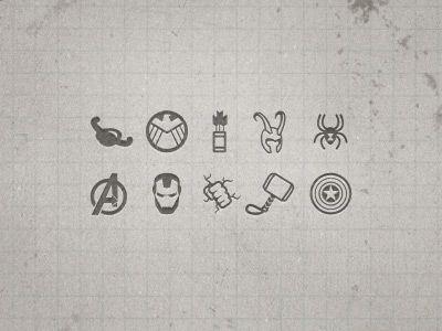Avengers Icon Set Marvel Tattoos Avengers Tattoo Spiderman Tattoo